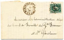 1872 BRIEF PZ 30 VAN MARCHIENNE-AU-PONT NAAR HORNU(St GHISLAIN) STEMPELS L 238+2RINGEN ZIE SCAN(S) - 1869-1883 Léopold II