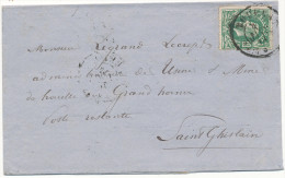 1873 BRIEF PZ 30 VAN TOURNAY NAAR St GHISLAIN STEMPELS 2RINGEN ZIE SCAN(S) - 1869-1883 Léopold II
