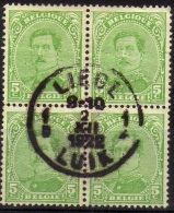 137C Type IV Bloc De 4 Liège - 1915-1920 Albert I