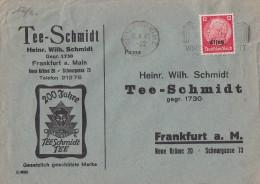 Elsass Werbebrief Tee-Schmidt EF Minr.7 Strassburg 18.6.41 - Besetzungen 1938-45