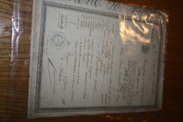 1850 - PASSEPORT DE TROYES - AUBE - A LE HAVRE - SEINE INFERIEURE - VENANT DE MULHOUSE - HAUT RHIN - Vecchi Documenti