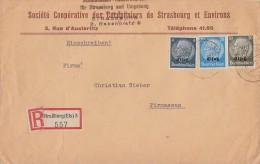 Elsass R-Brief Mif Minr.2,9,11 Strassburg - Besetzungen 1938-45