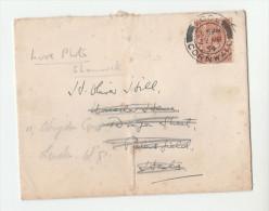 1934 GB GV Stamps COVER LOOE Cds Pmk To PETERSFIELD REDIRECTED London - Brieven En Documenten