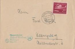 DR Brief EF Minr.867 Waiblingen 2.3.45 Gel. Nach Ludwigsburg Spätes Datum !!!!!!!!!!!!! - Deutschland