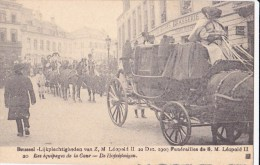 BRUXELLES FUNERAILLES DE LEOPOLD II 22/12/09 LES EQUIPAGES DE LA COUR - Funérailles