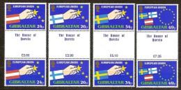 Gibraltar 1995 Yvertn° 715-18 *** MNH Cote 14 Euro  Gutterpair - Gibraltar