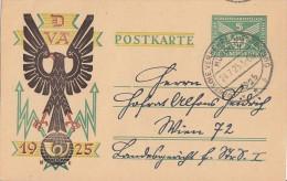 DR Ganzsache Minr.206I SST München 24.7.25 Gel. Nach Wien - Deutschland