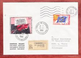 Einschreiben Reco, Europarat U.a., Strasbourg Nach Kehl 1966 (73079) - Covers & Documents