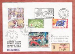 Einschreiben Reco, Europarat U.a., Strasbourg Nach Kehl 1969 (73122) - Covers & Documents