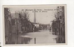 BOULOGNE SUR SEINE - Inondation De 1910 - La Rue De Sèvres - Boulogne Billancourt