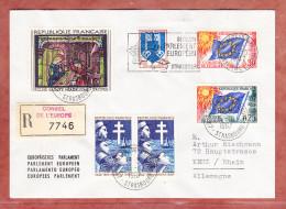 Einschreiben Reco, Europarat U.a., Strasbourg Nach Kehl 1967 (73124) - Covers & Documents