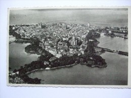 GERMANY STRALSUND AERIAL VIEW WITH FELDPOST POSTMARK 1937 - Stralsund