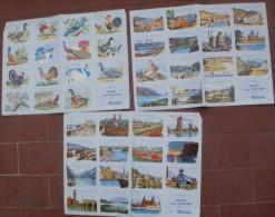 3 Planches VOLUMETRIX Images éducatives Offert Par DUFAUX A LA TENTATION Salon Et Les Tissus BOUSSAC - Sammlungen