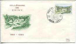 Belgium - FDC - Millenaire De Chiny, 1980, Mi.# 2043 - Ponts