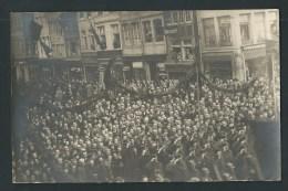 Liège. Rue Puits En Sock Et Entre 2 Ponts. Libération 1918. Photo-carte. 2 Scans. - Liege