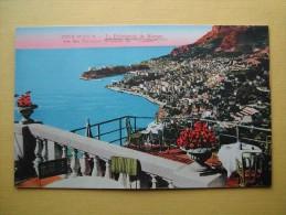 ROQUEBRUNE CAP MARTIN. Vue Sur Monaco Et Monte Carlo Du Vistaero. - Roquebrune-Cap-Martin