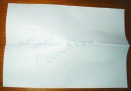 Autographe Chanteuse Carmel Mars 1988 Sur Papier A4 - Autógrafos