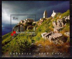 2010  Croatia / Kroatien- Lubenice Castle And Monastery / Island Cres - MS - Paper  -MNH** - Klöster