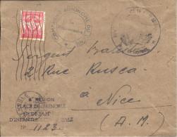 FRANCE  ---  Enveloppe   F.M.       N° 12 Rouge Y.& T. - Franchise Militaire (timbres)