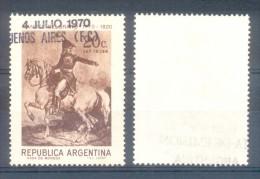 GENERAL MANUEL BELGRANO LITOGRAFIA DE GERICAULT AÑO 1819 MUSEO DE ROUEN FRANCIA ARGENTINA AÑO 1970 200 AÑOS DEL NACIMIEN - Art