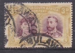 Southern Rhodesia (BSAC) Double Head 1910 3dpurple + Yellow-ochre Perf 15, Used - Southern Rhodesia (...-1964)