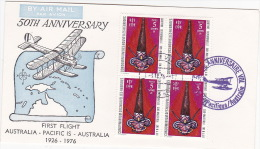 New Hebrides 1976 50th Anniversary First Flight Australia-Pacific Is-Australia - Nouvelles-Hébrides