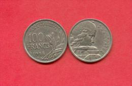 100 FRANCS COCHET DE 1958 - N. 100 Francs
