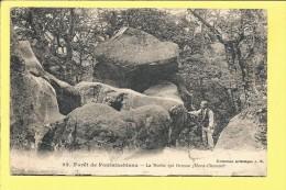 CPA FONTAINEBLEAU La Roche Qui Remue - Fontainebleau