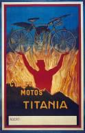 MAGNET (FRIDGE MAGNET) SIZE.7X5 CM. APROX -  Vintage Advertising Cycles - Deportes