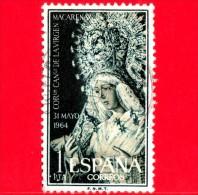 SPAGNA - USATO - 1964 - Incoronazione Della Vergine Di Macarena - Siviglia - 1 - 1931-Heute: 2. Rep. - ... Juan Carlos I
