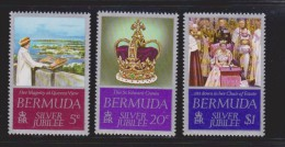Bermuda 1977 QEII Silver Jubilee Set 3 MNH - Bermuda