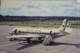 VICKERS  VISCOUNT    BUA  / BRITISH UNITED   G APTC  GATWICK AIRPORT 1967 - 1946-....: Moderne