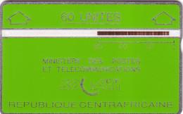 CENTRAFRICAINE LANDIS SOCATI VERTE GREEN 60U UT N° 901C..... - Central African Republic