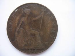 1 PENNY 1915 - 1902-1971 : Monete Post-Vittoriane