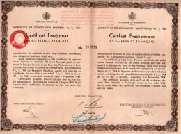 Emprunt De Consolidation Amortissable 4,5% 1934 - Certificat Fractionnaire De 5 Francs Français - Banque & Assurance