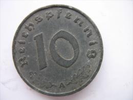 10 REICHSPFENNIG 1942 A - 10 Reichspfennig