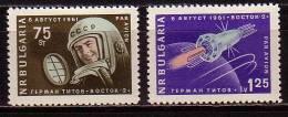 BULGARIA / BULGARIE / BULGARIEN  - 1961 - Second Cosmonaute Titov - 2v ** - Nuevos