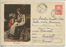 Romanian Woman's Costume - Romanian Stationery, 1957 - Costumes