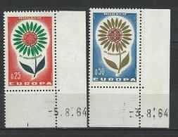 "Monaco YT 652 & 653 "" EUROPA "" 1964 Neuf** BDF Daté - Ungebraucht"