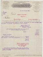 Maine Et Loire, Ingrandes, H. Grandin & Cie, Vins Mousseux, Anjou, Champagnes 1921 - Alimentaire