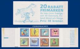 SWEDEN 1987 BOOKLET DISCOUNT STAMPS CHILDREN'S STORIES FACIT H 376 - Markenheftchen