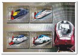 Solomon Islands 2014, Postfris MNH, Trains - Solomoneilanden (1978-...)