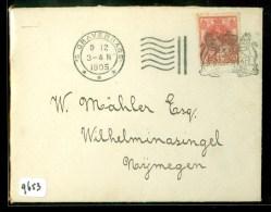 BRIEFOMSLAG Uit 1905 Van ´s-GRAVENHAGE Naar NIJMEGEN (9653) - Covers & Documents