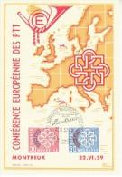 SWITZERLAND 1959 EUROPA MONTREUX  FDC  POSTCARD - Europa-CEPT