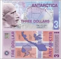 Antarctica - 3 Dollars 2008 UNC Ukr-OP - Banknotes