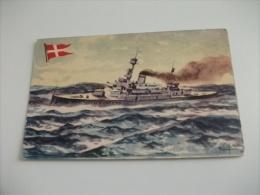 NAVE SHIP  GUERRA DANIMARCA PEDER SKRAM ILLUSTRATORE R. LILFO PUBBLICITARIA CIOCCOLATA LA ESTRELLA - Guerra