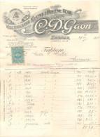 ZAGREB GAON JUDAICA VELETRGOVINA KRATKE I PLETENE ROBE YEAR 1924 - Invoices & Commercial Documents