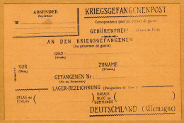 Carte Correspondance Kriegsgefangenenpost Prisonnier En Allemagne - War 1939-45
