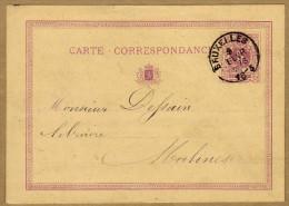 Carte Correspondance Entier Postal 1873 Bruxelles à Malines - Stamped Stationery