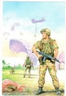 MP157     PARACADUTISTI ESERCITO  - FORZE ITALIANE DI PACE  IRAQ - Illustrata Scarpelli - Altre Guerre